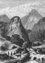SAVOIE: Alps of Dauphine: View on the river Arc, c1878